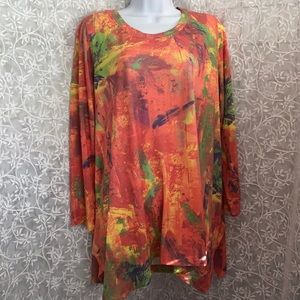 Philosophy Watercolor Abstract Tunic Top
